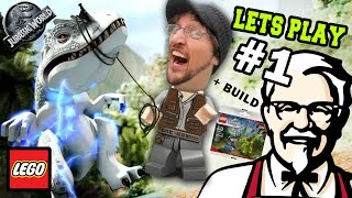getlinkyoutube.com-Lets Play LEGO Jurassic World Part 1:  KFC is DINOSAUR MEAT! (FGTEEV GAMEPLAY) w/ Gallimimus Trap
