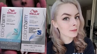 getlinkyoutube.com-Dyeing my Hair Silver (with Wella Colorcharm T14 & Purple Conditioner)