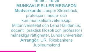 Forskartorget -  MUNKAVLE ELLER MEGAFON