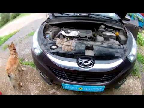 Где находится датчик коленвала в Hyundai ай икс 35