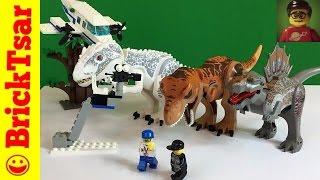 getlinkyoutube.com-LEGO Studios 1371 Jurassic Park 3 Spinosaurus Attack Dinosaurs! Review!