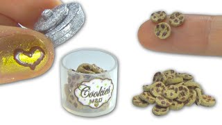 getlinkyoutube.com-Miniature doll chocolate cookies and cookie jar DIY - tutorial - YolandaMeow♡