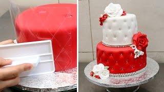 getlinkyoutube.com-Quilted Cake Decorating Idea by CakesStepbyStep