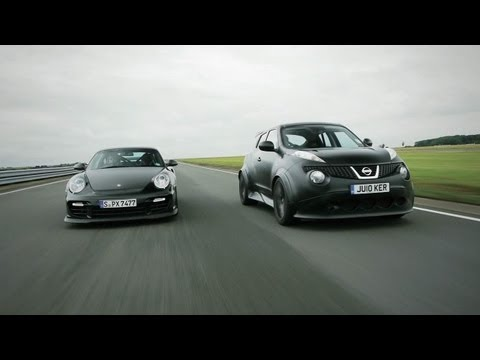 Nissan Juke-R vs. Porsche 911 GT2 RS - CAR and DRIVER