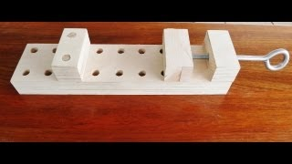 getlinkyoutube.com-Make a wooden clamp, effective and simple to make.