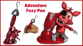 getlinkyoutube.com-FNAF WORLD | Adventure Foxy Pen Polymer Clay Tutorial | Collaboration with ArtzieRush