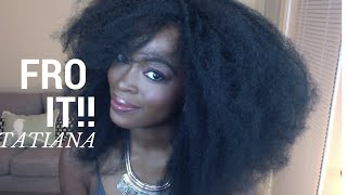 getlinkyoutube.com-Big FRO in minutes  with the Tatiana Wig (4C Natural hair): Under $25