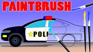 getlinkyoutube.com-Police Car | Fire Truck | Ambulance | Coloring Book | learn colors | colors song