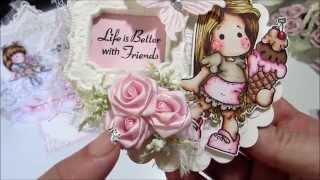 getlinkyoutube.com-Shabby Chic Magnolia Tilda Cards