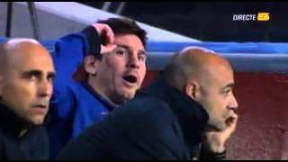 getlinkyoutube.com-رد فعل ميسي من دكة البدلاء ضد باريس سان جيرمان 10/4/2013