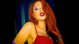 getlinkyoutube.com-Jessica Rabbit Halloween Makeover!