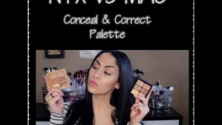 getlinkyoutube.com-New NYX Correct, Conceal & Contour Palette *MAC Dupe or Not*