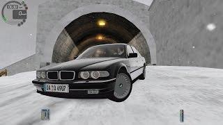 getlinkyoutube.com-City Car Driving 1.5.3 BMW 750iL E38 Snow [G27]