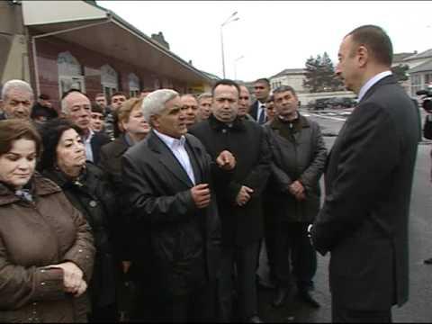 İlham Əliyev Sabunçu rayonunda görülən işlərlə tanış olmuşdur. 27.04.2011