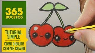 COMO DIBUJAR UNA CEREZA KAWAII PASO A PASO - Dibujos kawaii faciles - How to draw a cherry