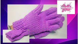 getlinkyoutube.com-DIY. Como tejer guantes con dos agujas!!