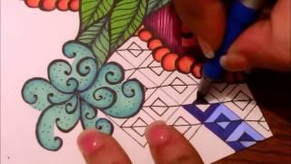 getlinkyoutube.com-Blended Sharpie Tangle