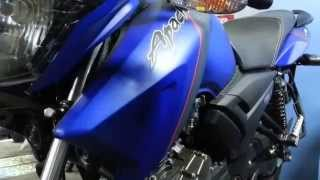 getlinkyoutube.com-TVS Apache RTR 160 Matte Blue - New color