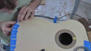 getlinkyoutube.com-Build a Guitar, Part 9, Binding and Bridge