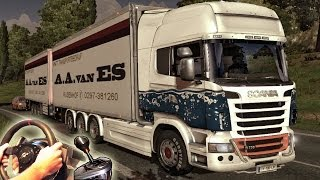getlinkyoutube.com-Euro Truck Simulator 2 - TSM Map mod v5, Scania R Tandem V8 OpenPipe Sound. Full HD 2014