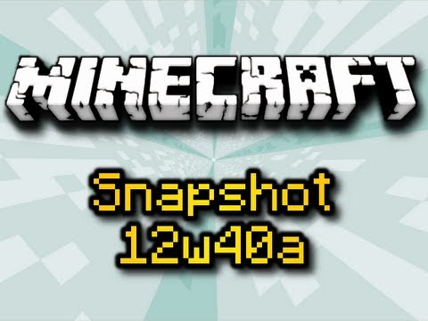Minecraft Snapshot 12w40a - SWAMP HUTS, LEFT-CLICK NERFED, & MORE! (HD)