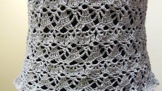 getlinkyoutube.com-Blusa Gris Crochet parte 2 de 2