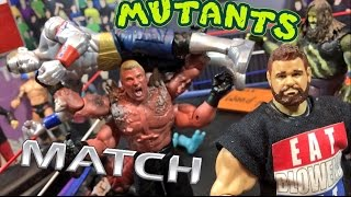 getlinkyoutube.com-GTS WRESTLING: MUTANTS MATCH! Hilarious WWE Mattel Figure Animation PPV Event!
