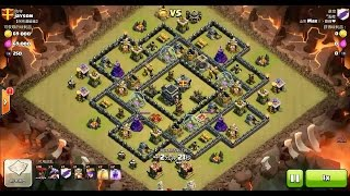 getlinkyoutube.com-Clash of Clans TH9 vs TH9 Dragon & Balloon (Dragloon) Clan War 3 Star Attack
