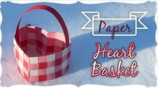 getlinkyoutube.com-Paper Heart Basket Tutorial