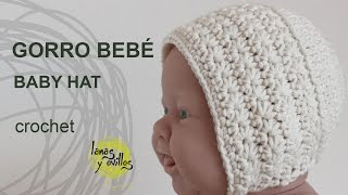 getlinkyoutube.com-Tutorial Gorro Vintage Bebé Crochet o Ganchillo