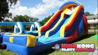 getlinkyoutube.com-16ft Water Slide with Pool - Houston's Newest Cleanest Family Fun WaterSlide