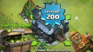 getlinkyoutube.com-Clash of Clans Lets Play: SUPER GEMMING PART 2! TONS OF GEMS - UPGRADING TOWNHALL!