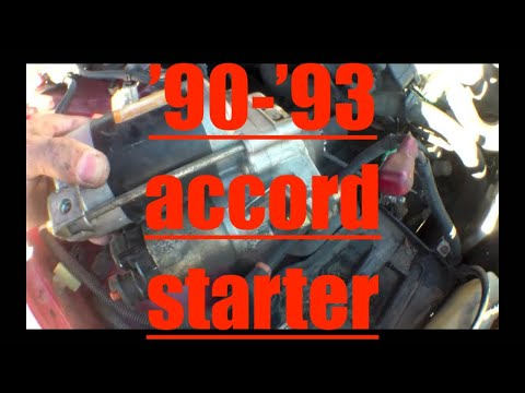 CLICKING Starter motor Replacement Honda Accord? Fix it Angel