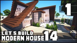 getlinkyoutube.com-Minecraft Lets Build: Modern House 14 - Part 1