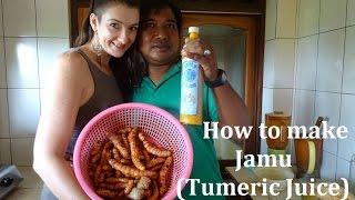 How to make Jamu (Tumeric Juice) - The balinese way!