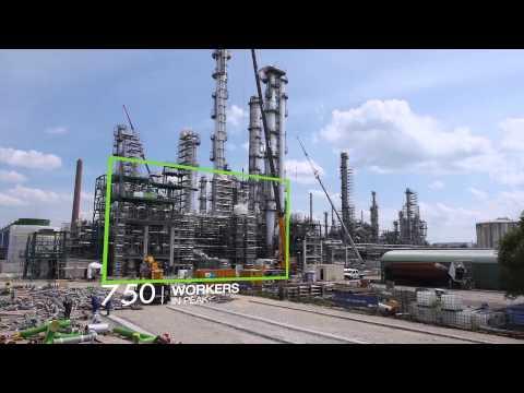 OMV Refinery Burghausen - Shut Down 2014: Building of new butadiene plant proceeds