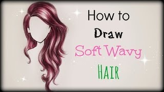 getlinkyoutube.com-Drawing Tutorial ❤ How to draw and color Soft Wavy Hair (front view)