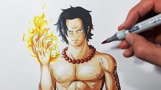 How To Draw Portgas D. Ace - Step By Step Tutorial