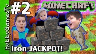 getlinkyoutube.com-Iron JACKPOT Minecraft Survival Mode Tutorial HobbyGuy #2 HobbyGamesTV