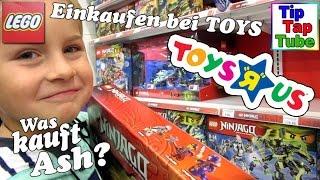 Toys r us Shopping Lego Ninjago Spielsachen einkaufen mit Ash Kanal für Kinder - Kinderkanal