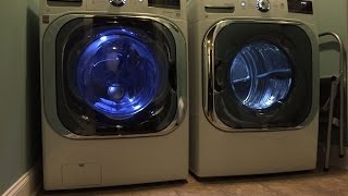 getlinkyoutube.com-LG Mega Capacity 5.2 CU FT Front Load Washer and 9.0 CU FT Dryer Review