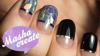 getlinkyoutube.com-Дизайн ногтей  Стеклянный Маникюр гель лаком  Модный маникюр Glass Nails