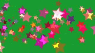 getlinkyoutube.com-Multi color Stars on Green Screen Green Screen Chroma Key Effects AAE