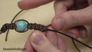 getlinkyoutube.com-How to Make a Shambhala Bracelet, Part II: Macrame Knot Finishing