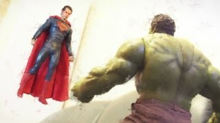 Superman VS Hulk Stop Motion