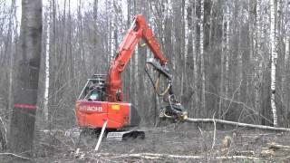 getlinkyoutube.com-Hitachi excavator ZX135 with Kesla_25RHS.AVI