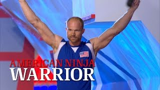getlinkyoutube.com-Brian Arnold at Stage 3 of American Ninja Warrior USA vs. The World 2014 | American Ninja Warrior