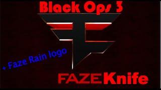 getlinkyoutube.com-Black Ops 3 Faze Knife! (Paintshop Speed Art) + Faze Rain Logo!