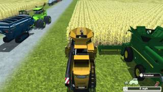 getlinkyoutube.com-Farming simulator 2013 Shelling Corn Combine Demos pt.1