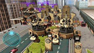 getlinkyoutube.com-Walking War Robots Gameplay when 6 Rhinos Attack - Clan [SWAT] vs [WAR]